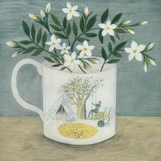'Ravilious cup and white Jasmine' Debbie George www.debbiegeorge.co.uk