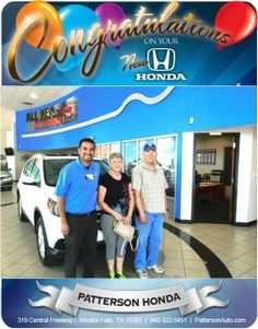 Phil White Congratulations Phil White on your new 2014 Honda Crv EXL AWD!- From Joey Lara at Patterson Honda