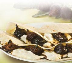 Piadina con squacquerone e fichi caramellati #ricette #granarolo