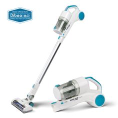 Dibea ST1601 New Handy Cordless Vacuum Cleaner with Cyclonic Technology Light Weight 2-in-1 Stick and Handhold 7Kpa Suction