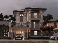 Modern 2 storey house plans with garage google search for Casa moderna sketchup download