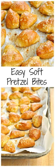 No yeast is needed to make these Easy Soft Pretzel Bites! Store bought dough makes this a breeze!