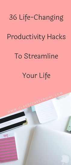 You aren't going to streamline and improve your life if you are feeling like there is not enough time in the day. In order to be able to master your next career transition, you have to be able to master your life right now. That starts with good time management habits. Read More: http://www.classycareergirl.com/2016/06/productivity-hacks-streamline-life/