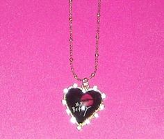 NWT - Betsey Johnson Hugs + Kisses Heart Necklace w/ Crystals -Goldtone-Gorgeous- Free Shipping