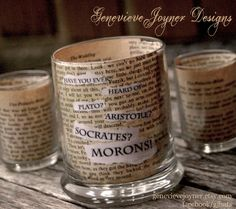 Cute Candle Holders with Princess Bride Quotes