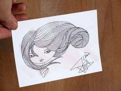 Anemony+-+illustrazione+inchiostro+di+Valeria+Draws+su+DaWanda.com