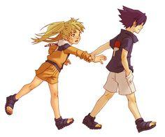 Poor lil' Naruto. Sasuke's the possessive type, apparently.