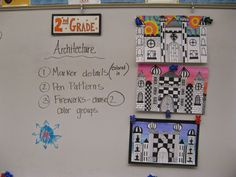 Jamestown Elementary Art Blog: 2nd Grade Castle Architecture