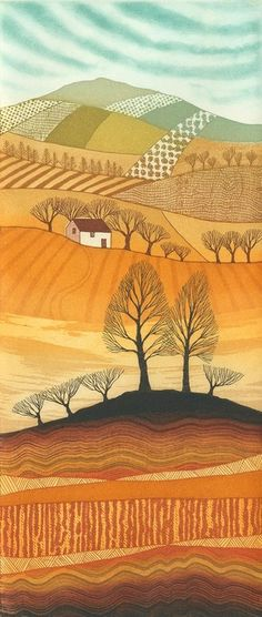 A Golden Season etching 28 x 12cm £150 unframed £190 framed