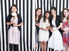 Studio R: Sabeen's Wonderland Photobooth   love the striped backdrop