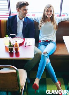 """Date-Night Style: Olivia Palermo and Johannes Huebl """"Six years after our first date, I still get butterflies."""" —Olivia Palermo"""