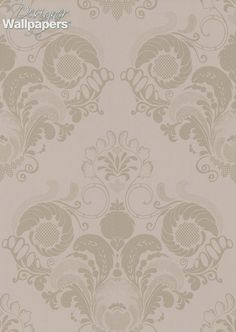 Fernery is an exuberant damask pattern composed of various stylised fern leaves.  Creates a luxurious and demure atmosphere.  Large scale design element measures 48cm/16.5inches.