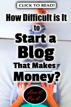 How Difficult is It to Start a Blog That Makes Money? // how to make money blogging //blog monetization // write a blog // blogging 101 // monetize blog // blogging courses // blog how to // diy blog // how to monetize your blog // blogging tricks // blogging for beginners // how to start your blog #startablog #newbloggers #makemoneyblogging #bloggingformoney #makemoneyonline Make More Money, Make Money Blogging, Make Money Online, Blogging Ideas, Extra Money, Money Making Websites, Blog Writing, Blogging For Beginners, Social Media Tips