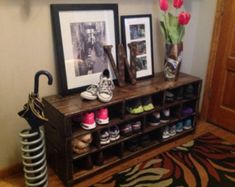 For entry way Jenny Shoe Storage Bench// Shoe Rack // Boot Storage bench // Entryway bench // Foyer