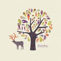 october-desktop-calendar-wallpaper-background-illustration-owl-ipad.jpg (1024×1024)