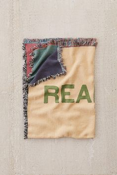 Slide View: 2: UO Artist Series Reality Woven Throw Blanket