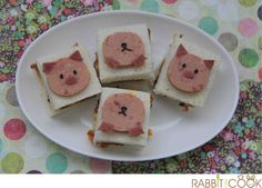 Piggy sandwiches for breakfast