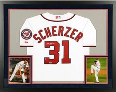 Max Scherzer Washington Nationals Framed Signed White Jersey - Fanatics   Baseball Autographed Baseballs a3a8472be