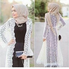 Long lace cardigan - check out: Esma <3
