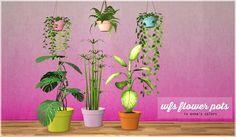 sims 2 palette: wfs flowerpot recolors