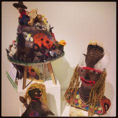 'Old McDonald had a Farm' Rebecca Bridgeman and Marilyn Hunter winner People's Choice 2013 Alice Springs Beanie Festival Www.beaniefest.org #beanies #handmade #textiles #woolyhat #handmade #alicesprings #beaniefestival #craft #felting #crochet #knitting
