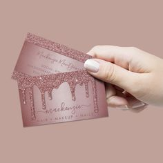 Champagne Classic Coral Personalized Business Cards