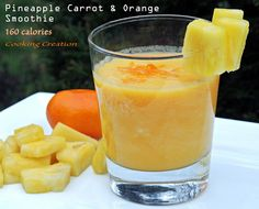 Pineapple, Carrot & Orange Smoothie with Ginger.