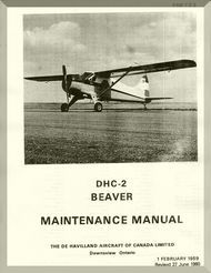 De Havilland DHC-2 Beaver Aircraft Maintenance Manual - PSM 1-2-2 - 1959