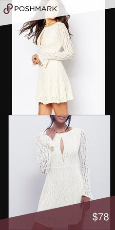 FREE PEOPLE Easter Dress🎀NEW!! SO Pretty, PERFECT for Easter and any Spring events you have coming up!! 🌸 Fit and Flare Ivory Lace dress!! This Looks Amazing on and be ready to get ALOT of compliments! Stretchy material and there is a stretchy lining underneath. You dont want to miss out on this Great deal, theyre going to go quick! 🎀Discount on a Bundle Free People Dresses Mini