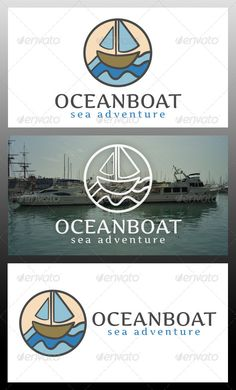 Ocean Boat  - Logo Design Template Vector #logotype Download it here: http://graphicriver.net/item/ocean-boat-logo-template/5977762?s_rank=868?ref=nesto