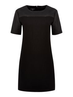 THERAPY Faux Leather Wool Shift Dress http://ow.ly/pcC0O