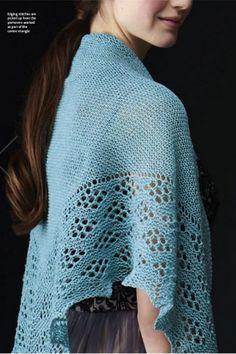 Ravelry: Jade pattern by Anniken Allis - what if made the garter areas undulating around the eyelet areas?