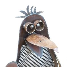 Fat Little Penguin Sculpture Handmade from Scrap Steel. $245.00, via Etsy.