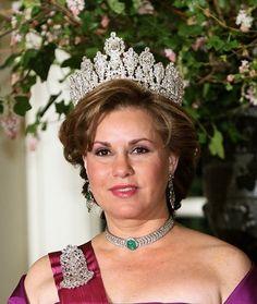 Grand Duchess Marie Teresa of Luxembourg wearing the Empire Tiara