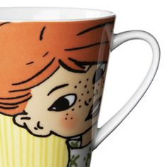 Mug Pippi Longstocking - Marianne Westman - Rörstrand Coffee Cups, Tea Cups, Pippi Longstocking, Drink Holder, Fika, Ceramic Cups, Pepsi, Scandinavian Design, Hot Chocolate