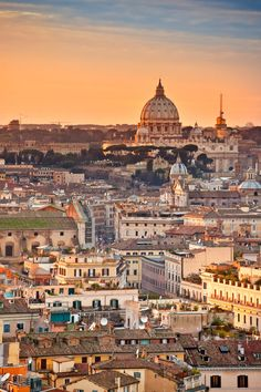 Rome, Italy, city view, golden, architechture, buildings, culture, photograph, photo