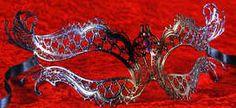 Luxury petite  venetian metal mask