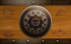 Dark factory wooden wallpaper by Darkfactorycz