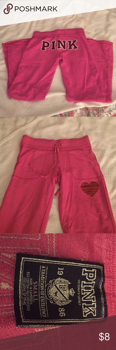 "PINK cotton pants Gently used, gotten and polyester blend. 30"" inseam PINK Victoria's Secret Pants"
