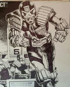 """""""Mi piace"""": 197, commenti: 10 - Cam Kennedy Art (@camkennedyart) su Instagram: """"Just for fun, the first Dredd strip by Cam """"The Suspect"""", featuring a Dredd with a little more of…"""""""