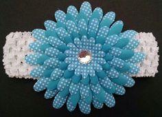 Baby Headband Flower Headband Rhinestone by GloriaMillerCreation