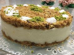 Kadayıflı İrmik Tatlısı ( Çok Hafif) Tiramisu, Tart, Cheesecake, Deserts, Pudding, Yummy Food, Cooking, Sweet, Ethnic Recipes