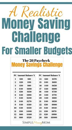 This is not your average money savings challenge. Designed for smaller and tight… This is not your average money savings challenge. Designed for smaller and tighter budgets, you can rest assured that you will accomplish your money savings goal. Savings Challenge, Money Saving Challenge, Money Saving Tips, Saving Ideas, Money Tips, 26 Week Savings Plan, No Spend Challenge, Money Budget, Savings Planner