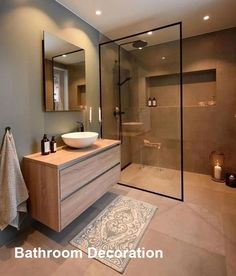 Dreaming of an extravagance or designer master bathroom? We've gathered together plenty of gorgeous bathroom suggestions for small or large budgets, including baths, showers, sinks and basins, plus master bathroom decor suggestions. Scandinavian Bathroom Design Ideas, Modern Bathroom Design, Bathroom Interior Design, Bathroom Designs, Interior Ideas, Minimalist Bathroom Design, Minimal Bathroom, Modern Bathrooms, Scandinavian Kitchen