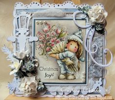 Tilda with big bouquet, A Christmas Story collection 2012, Magnolia stamps