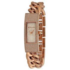 Michael Kors MK3307 Hayden Crystal Pavé Women's Rose Gold Chain Watch