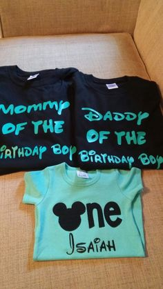 Custom. Mickey Mouse. Family birthday shirts. Vinyl. Embroidery. Braylee's Sew Sweet Boutique.