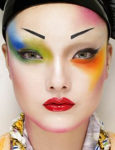 "INSPIRATION: ""Spectrum"" Jalouse Mar'13 #MUA: Eny Whitehead, HAIR: Cyril Lalone, PHOTO: Erwin Olaf - Happy #Easter #makeup"