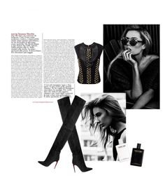 """Pure black"" by noeeva ❤ liked on Polyvore"