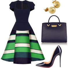 A fashion look from April 2016 featuring Roland Mouret blouses, Lanvin skirts and Christian Louboutin pumps. Browse and shop related looks.